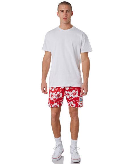 RED MENS CLOTHING OKANUI BOARDSHORTS - OKSOHBRDRED