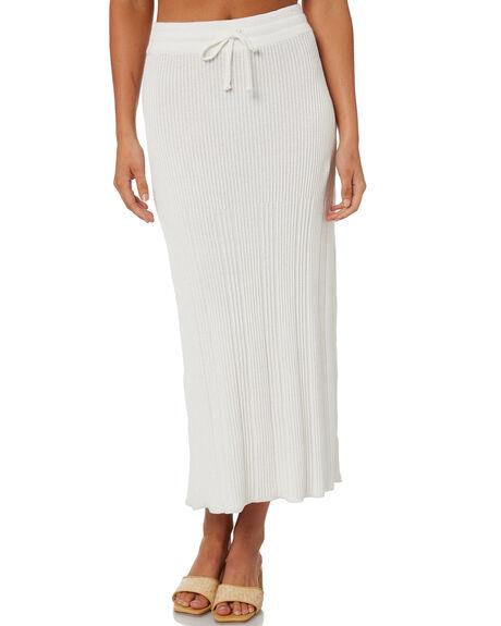 WHITE WOMENS CLOTHING RUE STIIC SKIRTS - SA-21-K-28WHT
