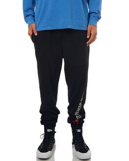 BLACK MENS CLOTHING STUSSY PANTS - ST072626BLK