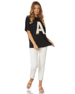 FADED BLACK WOMENS CLOTHING ABRAND TEES - 71446-089