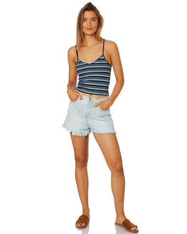 BLUE WOMENS CLOTHING ALL ABOUT EVE SINGLETS - 6405140BLU