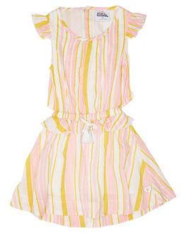 WHITE HONEY PINK STRIPE KIDS GIRLS EVES SISTER DRESSES + PLAYSUITS - 8045024STR