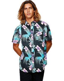 BLACK/MINT MENS CLOTHING BILLABONG SHIRTS - BB-9592202-BMI
