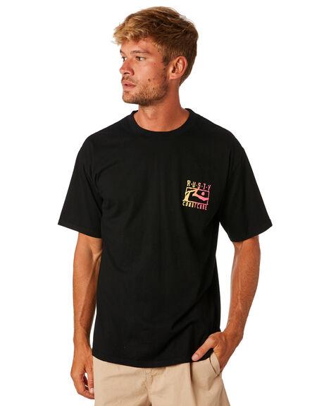 BLACK MENS CLOTHING RUSTY TEES - TTM2141BLK