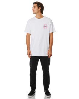 WHITE MENS CLOTHING RVCA TEES - R193061WHT