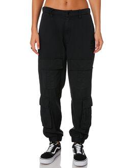 BLACK WOMENS CLOTHING STUSSY PANTS - ST196611BLACK