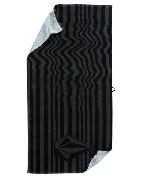ASHPHALT BLACK MENS ACCESSORIES VOLCOM TOWELS - PROMO-D6701901ASB