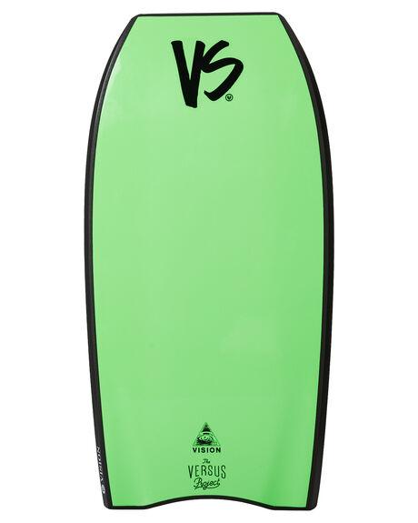 BLACK FLURO GREEN BOARDSPORTS SURF VS BODYBOARDS BODYBOARDS - VSVISIONBLKFG