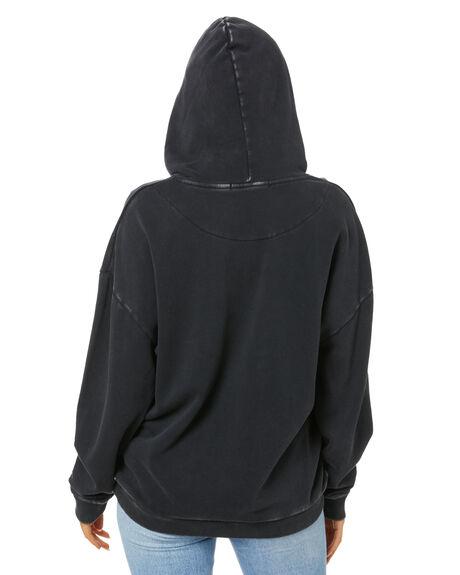 WASHED BLACK WOMENS CLOTHING SILENT THEORY HOODIES + SWEATS - 6074023WBLK