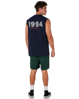 NAVY MENS CLOTHING RPM SINGLETS - 9PMT07ANVY