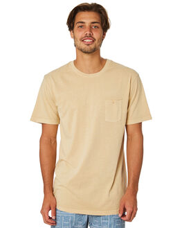SUNBLEACHED YELLOW MENS CLOTHING RHYTHM TEES - JAN19M-CT02-YEL