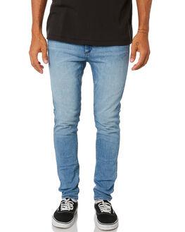BAD LOVE BLUE MENS CLOTHING WRANGLER JEANS - W-901551-LC7BLB