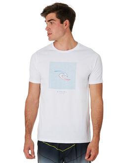 WHITE MENS CLOTHING RIP CURL TEES - CTESD21000