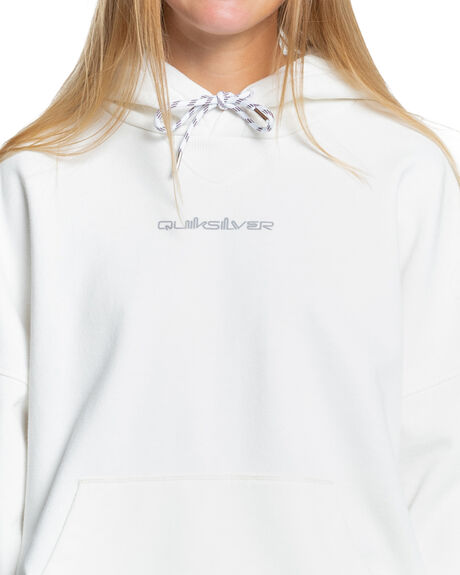 LILY WHITE WOMENS CLOTHING QUIKSILVER HOODIES + SWEATS - EQWFT03042-WCQ0