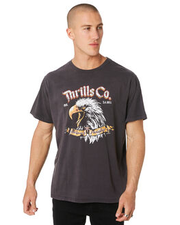 VINTAGE BLACK MENS CLOTHING THRILLS TEES - SMU9-129VB