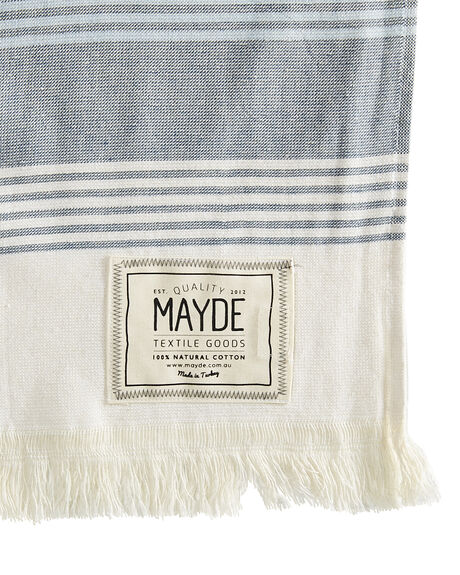 WHITE NAVY WOMENS ACCESSORIES MAYDE TOWELS - 16JERVWHTNV