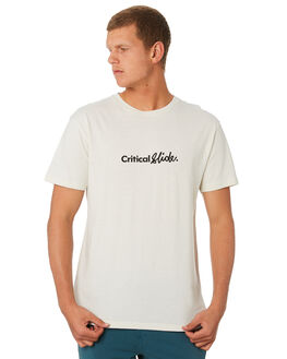 DIRTY WHITE MENS CLOTHING THE CRITICAL SLIDE SOCIETY TEES - TE18195DTWHT