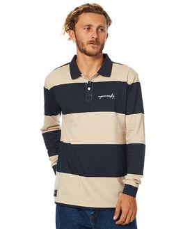 NAVY BEIGE BLUE MENS CLOTHING RPM SHIRTS - 7WMT08ANBGE
