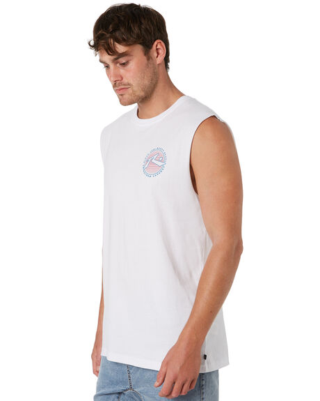 WHITE MENS CLOTHING RUSTY SINGLETS - MSM0256WHT