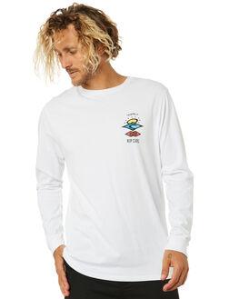 WHITE MENS CLOTHING RIP CURL TEES - CTEQV21000