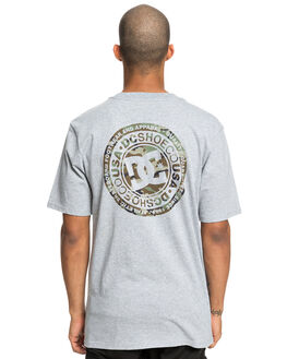 GREY HEATHER MENS CLOTHING DC SHOES TEES - UDYZT03583-KNFH