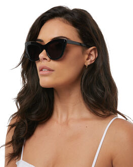 BLACK GLOSS  GREY WOMENS ACCESSORIES SABRE SUNGLASSES - SS7-507B-GBLKGR