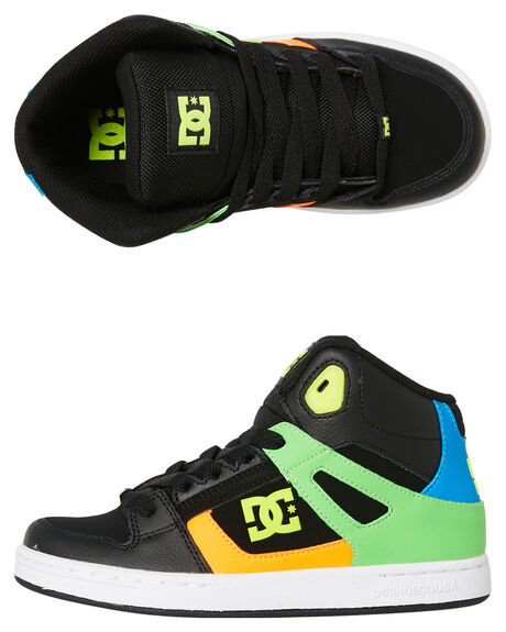 BLACK MULTI KIDS BOYS DC SHOES SNEAKERS - ADBS100244BK5
