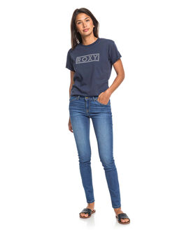 MEDIUM BLUE WOMENS CLOTHING ROXY JEANS - ERJDP03241-BMTW
