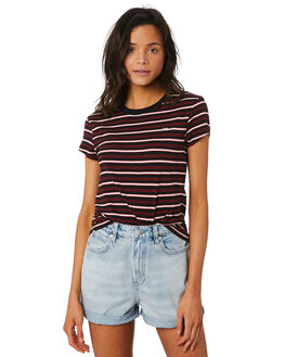 BLACK STRIPE WOMENS CLOTHING LEE TEES - L-651754-B90