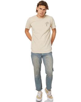 NATURAL MENS CLOTHING ALLAH LAS TEES - LASCALSS01NAT
