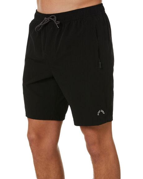 BLACK MENS CLOTHING STAY SHORTS - SWA-20301BLK