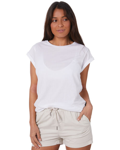 WHITE WOMENS CLOTHING SILENT THEORY TEES - 6008046WHT