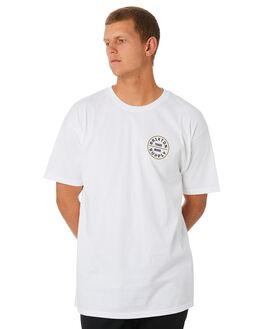 WHITE BRONZE MENS CLOTHING BRIXTON TEES - 06281WHTBZ