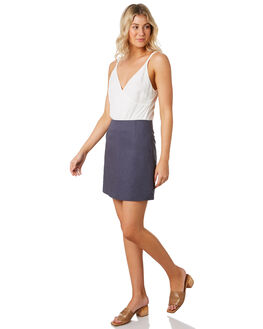 WASHED NAVY WOMENS CLOTHING NUDE LUCY SKIRTS - NU23747NAVY