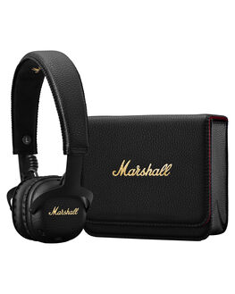 BLACK MENS ACCESSORIES MARSHALL AUDIO + CAMERAS - 154160BLK