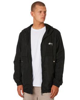 BLACK MENS CLOTHING STUSSY JACKETS - ST096500BLACK