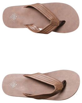 BROWN MENS FOOTWEAR FREEWATERS THONGS - MO042BRN