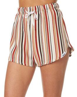RETRO STRIPE WOMENS CLOTHING AFENDS SHORTS - 52-01-095RETSTRP