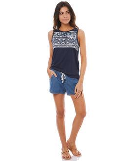 MEDIUM BLUE WOMENS CLOTHING ROXY SHORTS - ERJDS03145BLC0