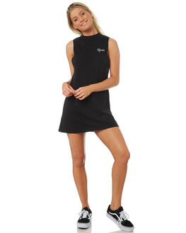 BLACK WOMENS CLOTHING AFENDS DRESSES - W183802-BLK