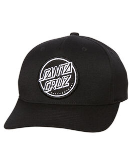 BLACK MENS ACCESSORIES SANTA CRUZ HEADWEAR - SC-MCA7436BLK