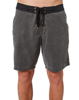BLACK OIL MENS CLOTHING AFENDS BOARDSHORTS - M184306BLKOI