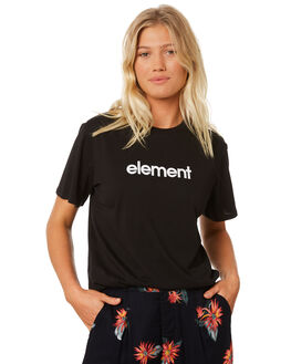 BLACK WOMENS CLOTHING ELEMENT TEES - 286011BLK