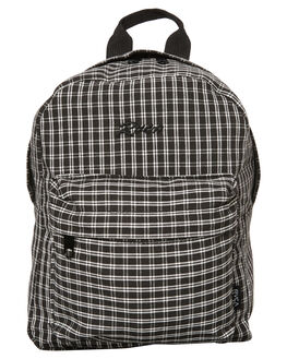 BLACK PLAID WOMENS ACCESSORIES RVCA BAGS - R283451BAPLD