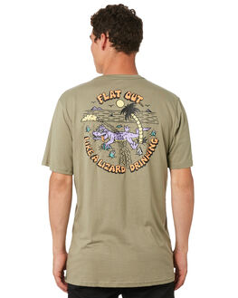 WASHED ARMY MENS CLOTHING VOLCOM TEES - A5041G81WAR