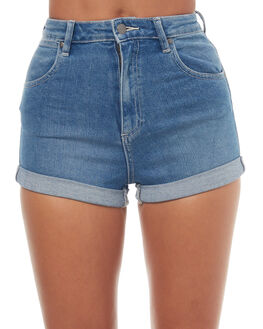 MIRAGE BLUE WOMENS CLOTHING WRANGLER SHORTS - W-950958-EB7MBL