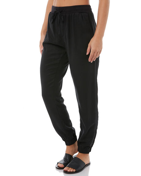 BLACK WOMENS CLOTHING RUSTY PANTS - PAL0897BLK