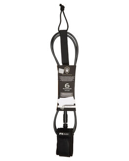 BLACK WHITE BOARDSPORTS SURF FK SURF LEASHES - 1281BLKWH