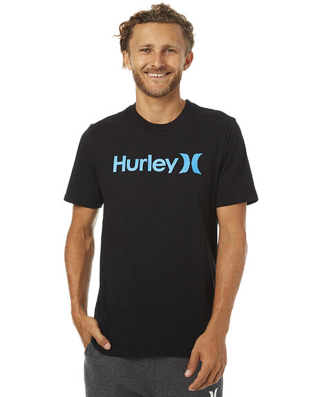 BLACK CYAN MENS CLOTHING HURLEY TEES - AMTSPOCBBLKCY