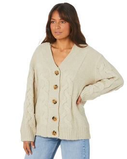 SAND WOMENS CLOTHING MISFIT KNITS + CARDIGANS - MT105302SAND